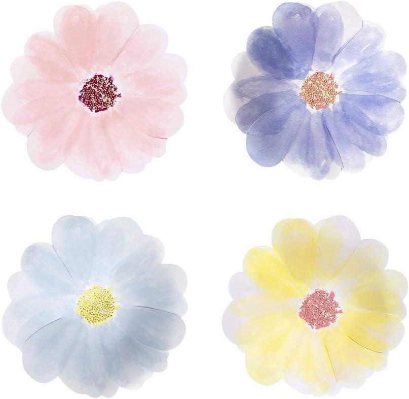 Meri Meri, Flower Garden Plates, Birthday, Party Decorations - Small