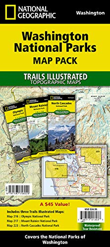 (Washington National Parks [Map Pack Bundle] (National Geographic Trails Illustrated Map) )