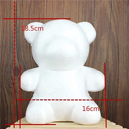 1 pcs 160mm Modelling Polystyrene Styrofoam Foam bear White Craft Balls For DIY Christmas Party Decoration Supplies Gifts ()