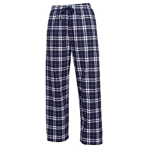 Boxercraft Plaid 100% Cotton Flannel Pant F20, Navy/Silver-Youth Medium...