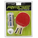 Dunlop Unisex Rage Mini Table Tennis Set Bat Ball Tablet Top Sports Accessories by Dunlop