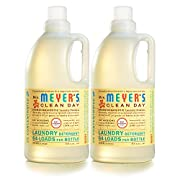 Mrs. Meyer's Clean Day Laundry Detergent Concentrated, Baby Blossom, 64 fl oz, 2 ct
