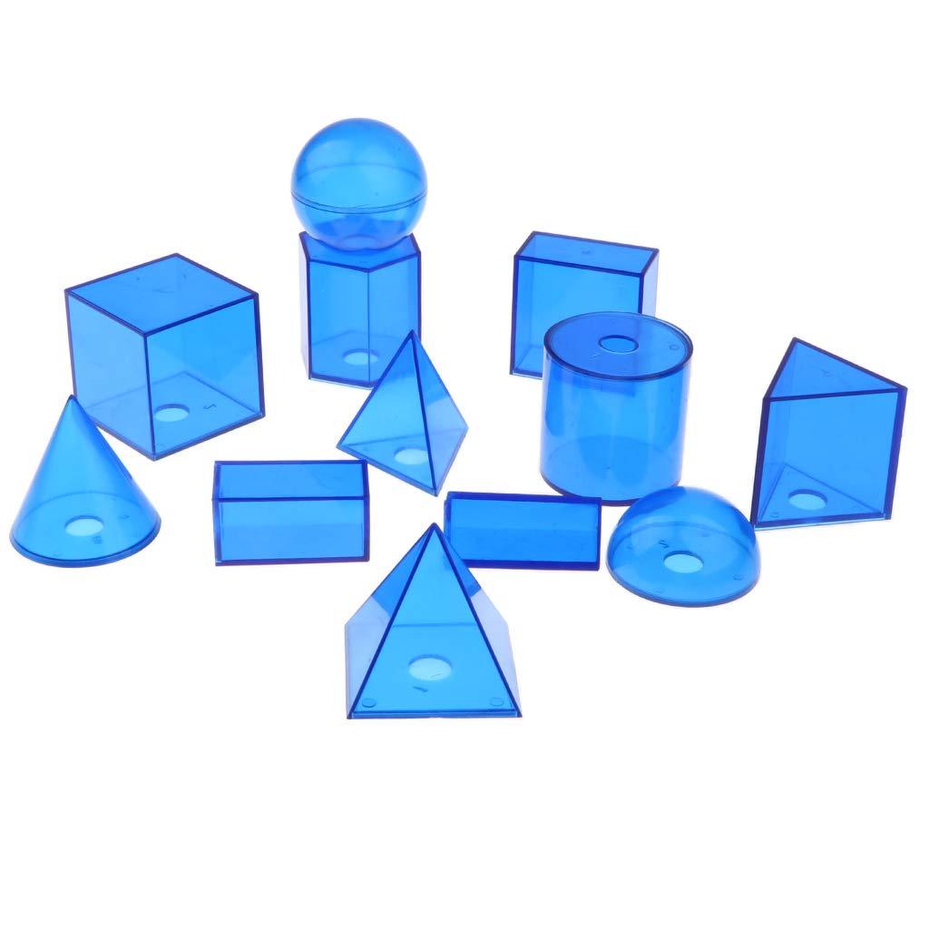 SM SunniMix 12pcs 3D Geometrische Feststoffe Modell f/ür Mathematik Lehrmittel