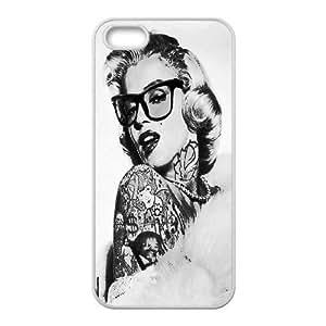 [QiongMai Phone Case] For Apple Iphone 5 5S Cases -Super Star Marilyn Monroe-Case 11