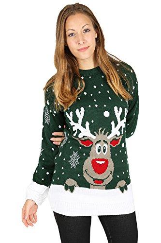 ROCKBERRY - Jerséi - para mujer Green Reindeer