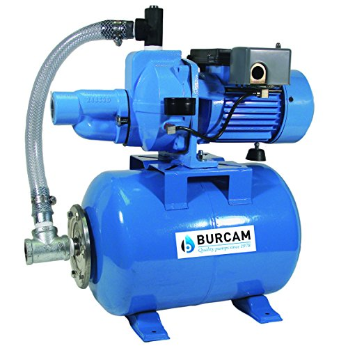 BURCAM 503327 1/2HP Heavy duty Convertible deep well jet pump system, Blue
