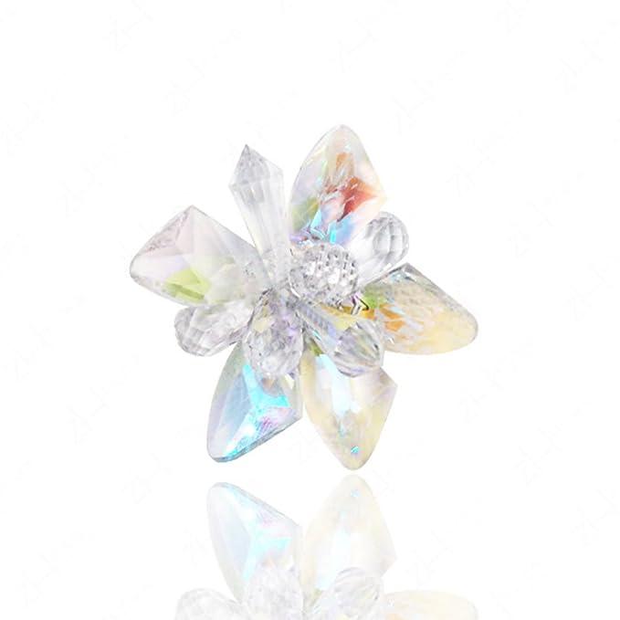 2 Pack Schuhe Clips Strass Kristall Blume Schnallen Frauen Schuhe