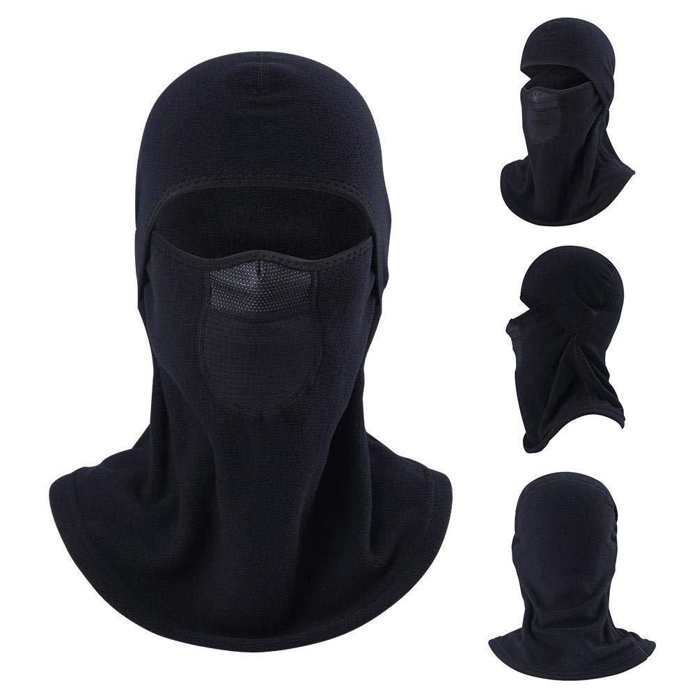 É charpe chaude de cou de tissu de Polarfleece unisexe, bonnet pour le travail exté rieur de sports de vé lo faisant du ski faisant de la moto coupe-vent froid preuve de masque chaud de visage masque iBàste