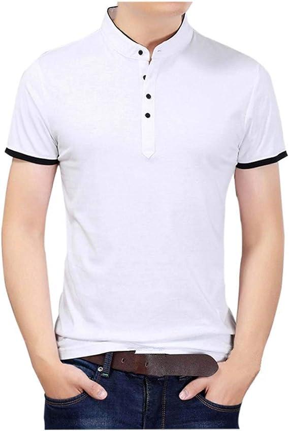Polo Camisa De Manga Corta con Hombre En para Esencial Cuello V ...