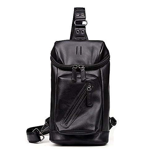 for Bag Bag Body Teens Fashionable Large Boys Shoulder Travel PU Men Functional and Cross Bag Soft Sling for iVotre Leather with Capacity HqUafw