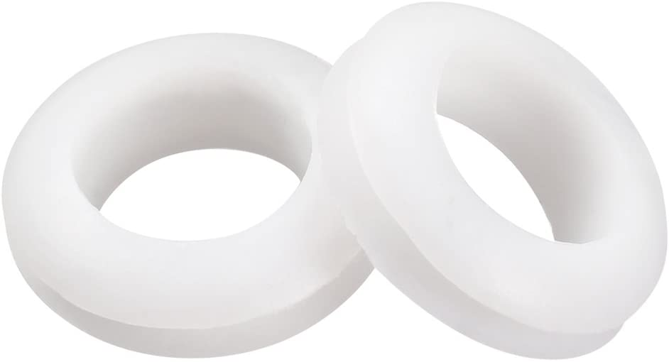 Fielect Rubber Grommet 50Pcs 7mm Mounting Dia Oil Resistant Armature Rubber Grommets for Wiring Cable White