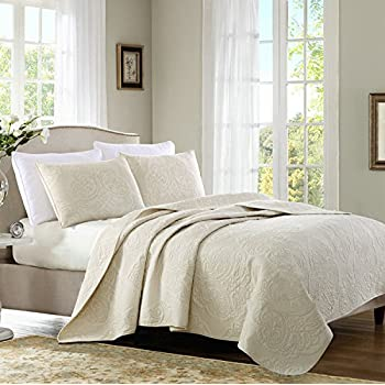 Amazon Com Brandream Beige Vintage Paisley Comforter Set