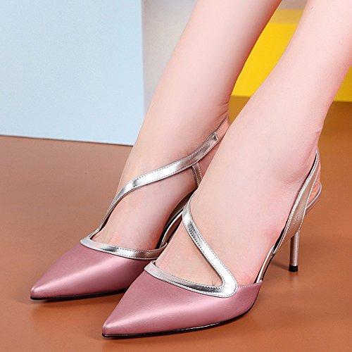 Mujer Zapatos Verano Cientos Tacones Shoes Rosa El Sandalias Con Roja Apuntado Señoras Bien De q11gxPBvw