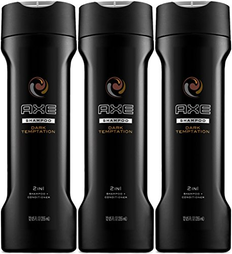 Axe Dark Temptation 2 in 1 Shampoo + Conditioner 12 Oz (Pack of ()