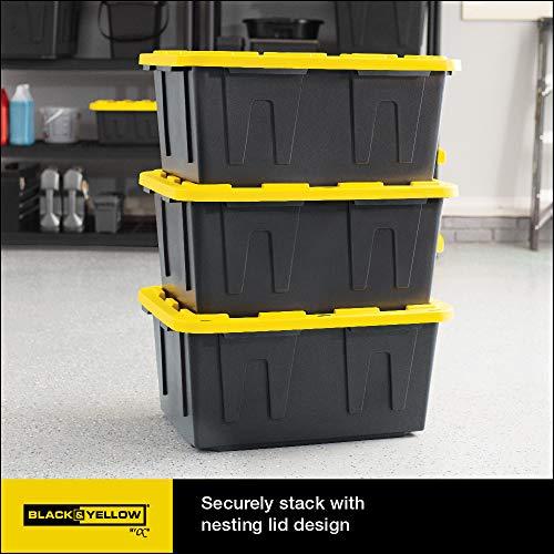 Original black & yellow 27-gallon storage containers