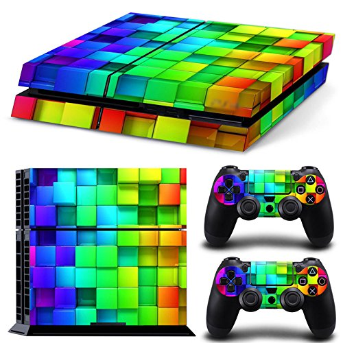 Chickwin PS4 Vinyl Skin Full Body Cover Sticker Decal For Sony Playstation 4 Console & 2 Dualshock Controller Skins (Color Box)