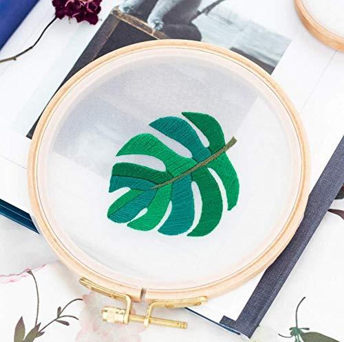 - Stamped Embroidery Kit DIY - Eafior Cross Stitch Kit Handmade Ginkgo biloba Pattern Design for Beginner Handy Sewing Wall Decor