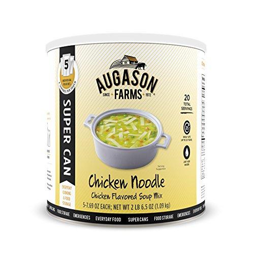 Augason Farms Chicken Noodle Chicken Flavored Soup Mix 2 lb 6.5 oz No. 10 Super - Photograph Farm