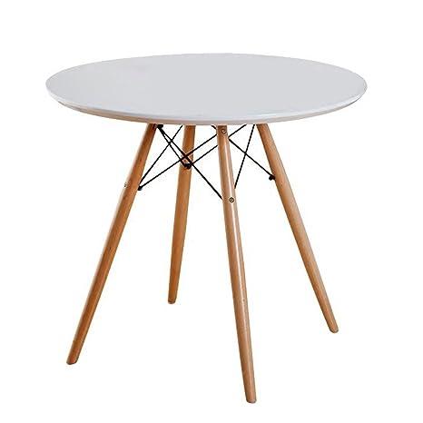 Amazon.com: Mesa redonda de café elegante mesa de café ...
