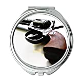 Mirror,Travel Mirror,pistol bayonet,Round Mirror,revolver,pocket mirror,portable mirror