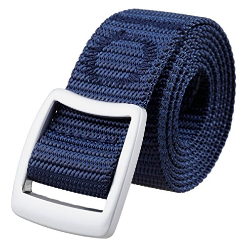 - Samtree Unisex Military Style Outdoor Tactical Web Nylon Belt Simple Buckle(Style 1-Blue)