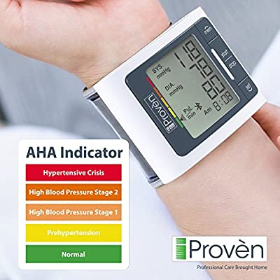 Blood Pressure Monitor Wrist with Bluetooth - Large Screen Display - Clinically Accurate & Fast Reading - FDA Approved - BPM-337BT by iProvèn (BPM Wrist)