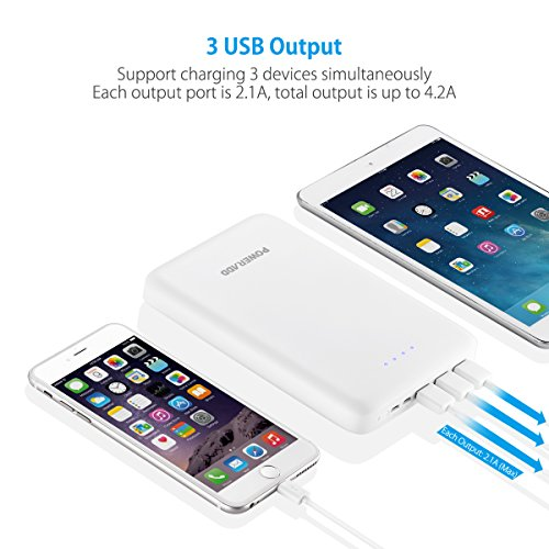 Poweradd Pilot Pro3 30000mAh potential Bank twice Inputs 4A 3 Outputs 42A External Battery Pack by using huge velocity bright payment for iPhone iPad Samsung LG Nexus and even more trave Chargers