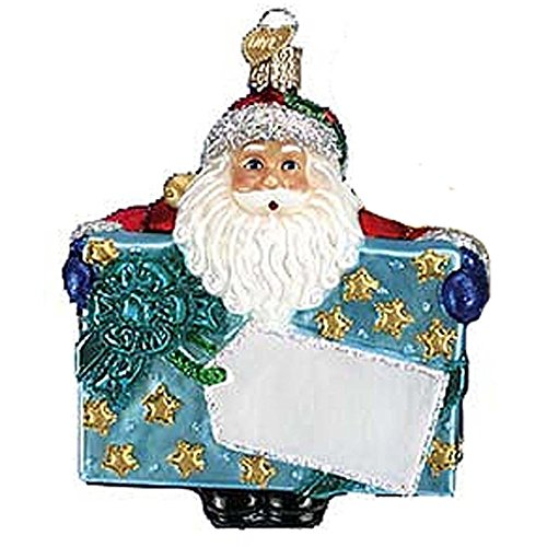 (Old World Christmas Blue Special Delivery Santa 40170 Ornament)