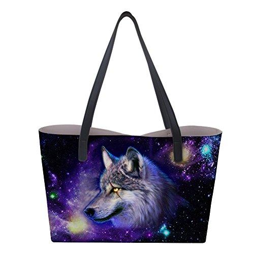 a Borsa Nopersonality L donna mano Galaxy Wolf1 65w8Tgxq