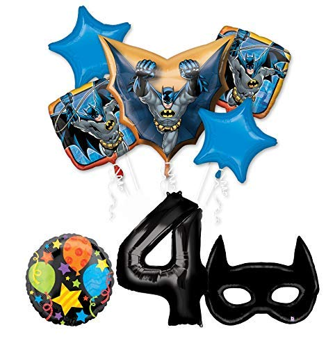 Mayflower Products Batman 4th Birthday Party Supplies and