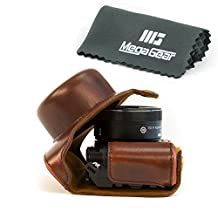"MegaGear ""Ever Ready"" Protective Leather Camera Case, Bag for Nikon 1 J5 with 10-30mm Compact System Camera (Dark Brown)"