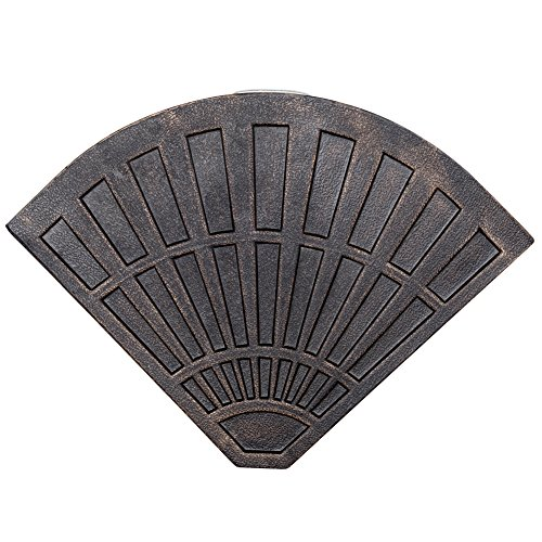 Sundale Outdoor 30 Pounds Fan Shaped Resin Base Weight for Cross Base Umbrella, Bronze, 1 Piece ()