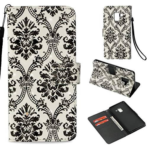 - Firefish Galaxy A8 2018 Case,Durable Slim Pu Leather Wallet Case [3D Printing] Pattern Inner Silicone Bumper Shockproof Full Cove Case Girl Samsung Galaxy A8 2018 -Black Lace