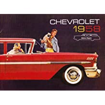 1958 CHEVROLET STATION WAGON DEALERSHIP SALES BROCHURE For Nomad, Brookwood and Yeoman
