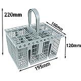 Spares2go Cutlery Basket Cage , Handle & Lid For Bauknecht Dishwasher