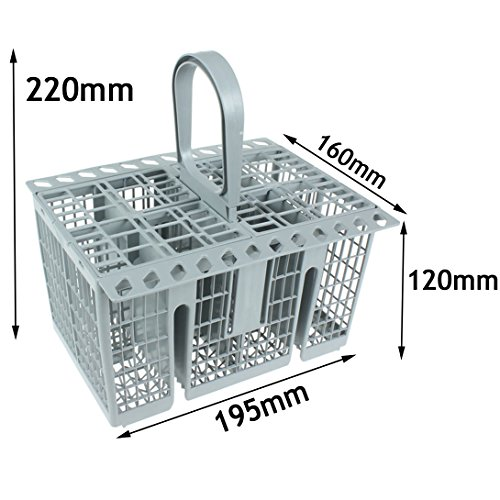 Spares2go Cutlery Basket Cage , Handle & Lid For Zanussi ()