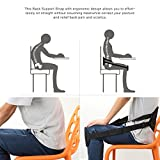 Fornorm Adjustable Waist Protection,Universal for Lower Back Support Sitting Lumbar Support Waist Protection Strap for Correct Posture Relief Back Pain Sciatica for Home Office Travel