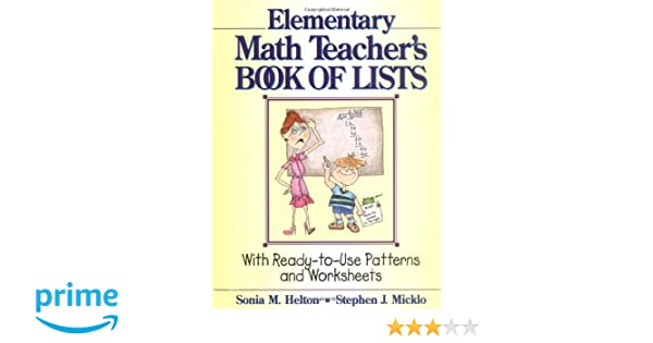 Counting Number worksheets math go worksheets : The Elementary Math Teacher's Book of Lists: With Ready-to-Use ...