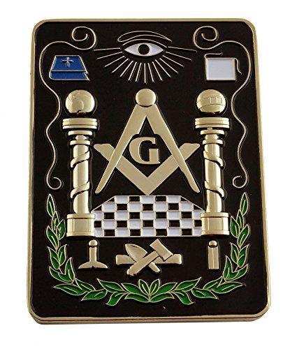 Lodge All Seeing Eye Square Black Masonic Auto Emblem - 4