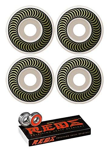 50 mm Spitfire Wheels Classics Wheels with Bones Bearings – 8 mm Bones Reds Precisionスケート定格ベアリング – 2アイテムのバンドル   B01N5MUD8P