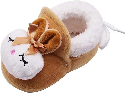 YWLINK Zapatos De Bebe Conejo De Dibujos Animados AdemáS De Zapatos De Terciopelo CáLido De AlgodóN Botas De AlgodóN ...