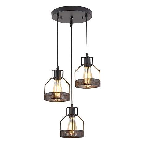 Amazon.com: American Retro Lámpara de araña, Industrial ...