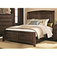 Casual Sleigh Bed (Queen - 67 in. L x 82 in. W x 61 in. H)