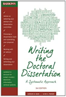 Doctoral dissertation and other research experience
