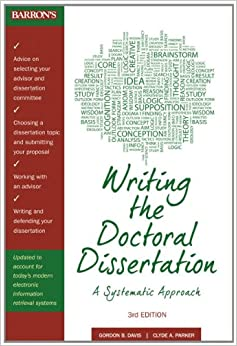 Dissertation doctoral writing