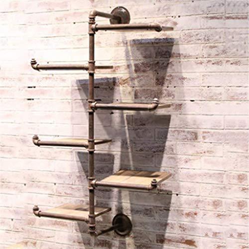 (PLLP Wall Shelves, Wall-Mounted Racks, Bar Restaurant Aisle Decorative Shelves, Wallfolds Walls Industrial Water Pipe Moldings Iron Furnaces Shelf Living Room Wall Walls )