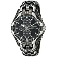 Seiko\x20Men\x26\x23039\x3Bs\x20SSC139\x20Excelsior\x20Gunmetal\x20and\x20Silver\x2DTone\x20Stainless\x20Steel\x20Solar\x20Watch