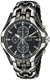 Seiko Men's SSC139 Excelsior Gunmetal and Silver-Tone Stainless Steel Solar...