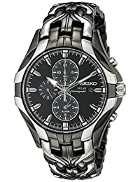 """Seiko Men's SSC139 """"Excelsior"""" Stainless Steel Solar Watch"""