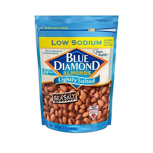 Blue Diamond Gluten Free Almonds, Low Sodium Lightly Salted, 16 Ounce